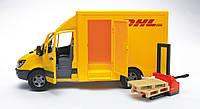 Игрушка - МВ Sprinter курьерская доставка грузов с погрузчиком, М1:16, Bruder 02534