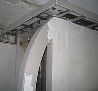 Монтаж короба під електропроводку в гіпсокартону