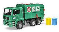 Игрушка - мусоровоз MАN  TGA, зелёный, М1:16, Bruder 02753