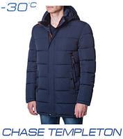 Куртка зимняя удлиненная мужская Ajento - 0016 темно-синяя