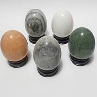 Яйца из натуральных полудрагоценных камней на подставках (набор 5 шт.)