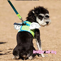 Шлейка для собак с поводком Angel-Зеленый, фото 1