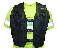Разгрузочный модульный жилет Police, черный. Великобритания, оригинал.