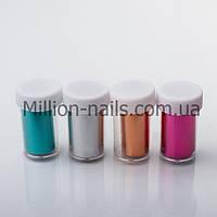 Набор переводной фольги для литья в баночках,12 шт разные цвета