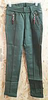 Теплые трикотажные подростковые брюки Deloras р. 134-164 хаки