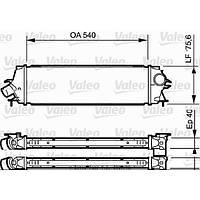 Радиатор интеркулера на Renault Trafic  06->  2.0dCi + 2.5dCi (146 л. с. )  —  Valeo ( Франция) - VAL818771