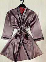 Женский халат с кружевом, одежда для дома., фото 1