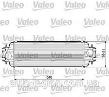 Радиатор интеркулера на Renault Trafic  01->  1.9dCi  —  Valeo ( Франция) - VAL817554