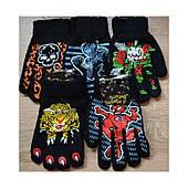 Перчатки вязаные детские на байке