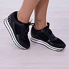 Кроссовки маломерные Woman's heel черные (О-811), фото 2