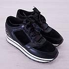 Кроссовки маломерные Woman's heel черные (О-811), фото 5
