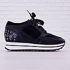 Кроссовки маломерные Woman's heel черные (О-811), фото 6