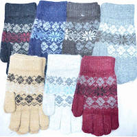 Перчатки вязаные женские шерстяные теплые  в ассортименте.
