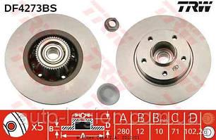 Тормозной диск задний с подшипником на Renault Trafic  2001->  — TRW  (Германия) - DF4273BS