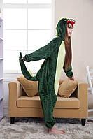 Кигуруми динозавр дракон М kigurumi костюм зеленый пижама