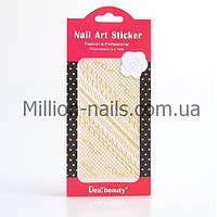 Кружево для дизайна ногтей (золото).разные 12 шт/уп., фото 1