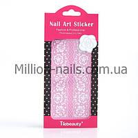 Кружево для дизайна ногтей (белое), фото 1