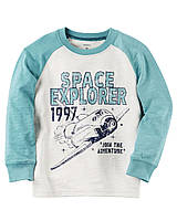 Кофта лонгслив Carters на мальчика 2-5 лет Space Explorer