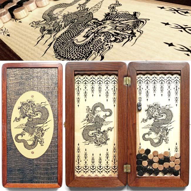 Нарды малые «Дракон китайский» 410*415 мм 31140-10 31140-10 31140-10