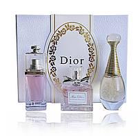 Подарочный парфюмерный набор Christian Dior 3 в 1