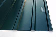 Профнастил ПК-12, 8-ми волновой, 2м Х 0,95м, толщина 0,25 мм, цвет: Зеленый, фото 3