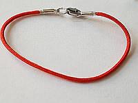 Красный браслет из шелковой нити. Артикул 905-00770