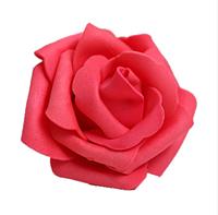 Роза из латекса, цвет красный, 4,5 - 5 см