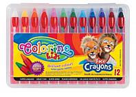 Аквагрим, карандаши для лица 12 цветов детская косметика