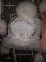 Очень красивая зимняя  детская шапка