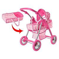 Детская коляска 9388 для кукол Melogo Мелого розовая