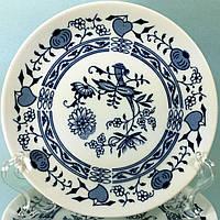 """Тарелка d=24 см к Столовому сервизу """"Синий Лук"""" Czehoslovakia Bohemia Inglazed Henriette 29029 (75)"""