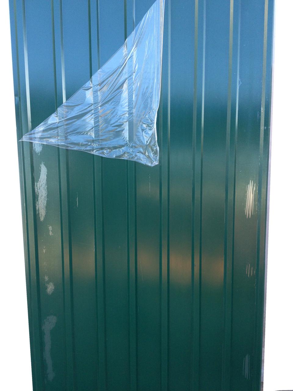 Профнастил ПК-12, 8-ми волновой, 1,5м Х 0,95м, толщина 0,25 мм, цвет: Зеленый