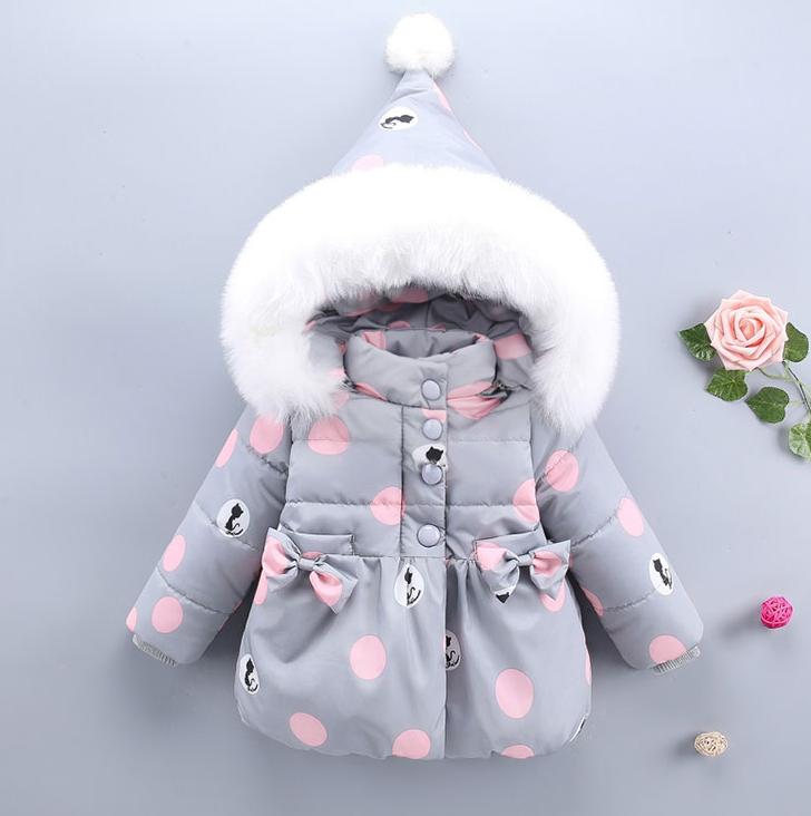 Тепла осіння куртка для маленьких дівчаток ac415177339f6