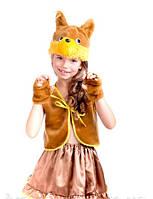 """Детский карнавальный костюм """"Коричневая белочка"""""""