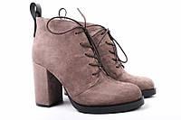 Ботинки женские Basconi натуральный замш, цвет капучино (ботильоны, каблук, весна-осень, комфорт), фото 1