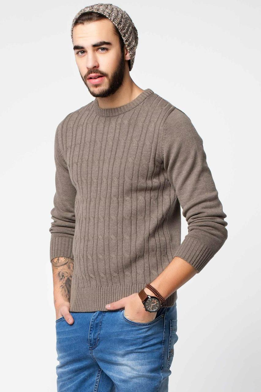 Мужской свитер De Facto / Де Факто песочного цвета