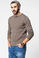 Мужской свитер De Facto / Де Факто песочного цвета, фото 1