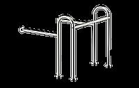 Поручень опорный под раковину для людей с ограниченными возможностями Ø32, размер 76*70*80см