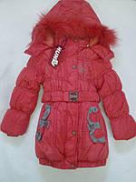 Зимняя куртка для девочки с сьемной подстёжкой Huniu