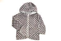 Флисовая детская куртка в горошек , фото 1