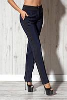 Классические синие брюки с черной полоской