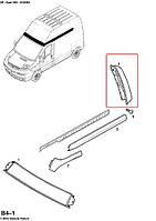 Молдинг задней двери (верхний, правый, высокая крыша)  на Opel Vivaro 2001-> — 4412056