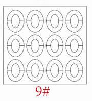 Трафареты для французкого маникюра и дизайна ногтей №9