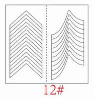 Трафареты для французкого маникюра и дизайна ногтей №12