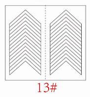 Трафареты для французкого маникюра и дизайна ногтей №13