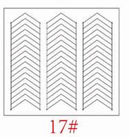 Трафареты для французкого маникюра и дизайна ногтей №17