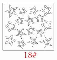 Трафареты для французкого маникюра и дизайна ногтей №18