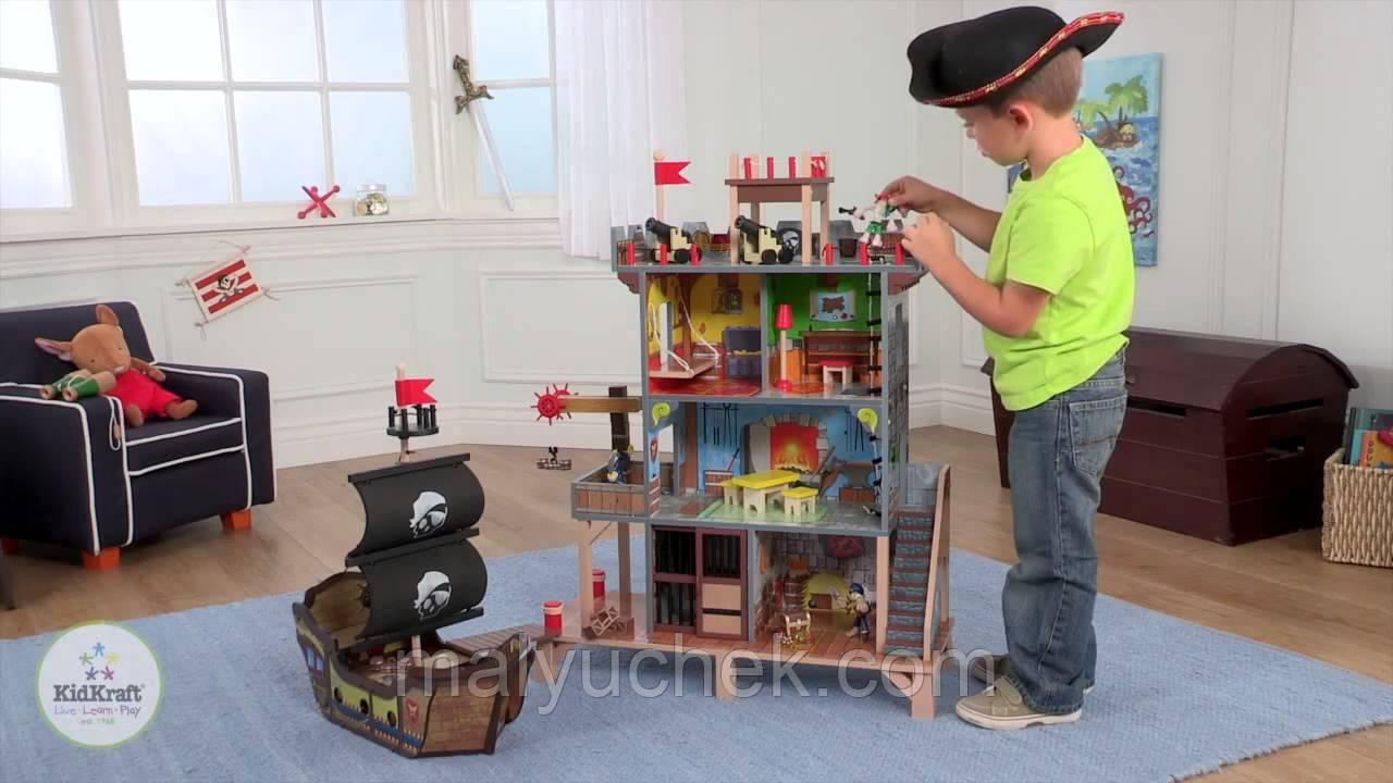 Детский игровой набор Пиратская крепость с кораблем KidKraft 63284