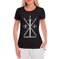 GlobusPioner Женская футболка Нет богов 67346