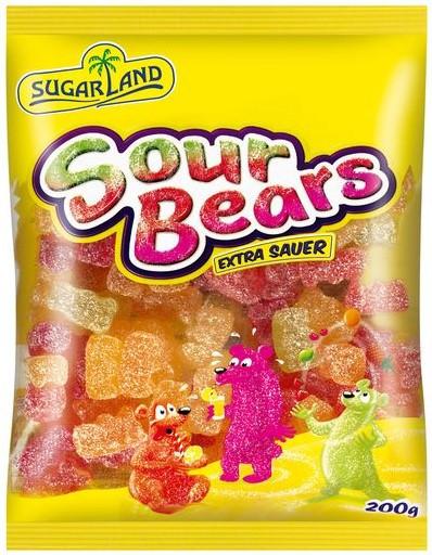 Жевательные конфеты Sugar Land Sour Bears 200g